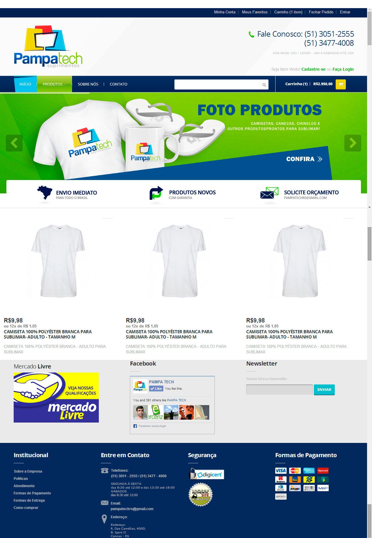 Loja Virtual PampaTech